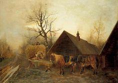 Померанцев Михаил Михайлович (1854-  )Вечер в селе 36.jpg