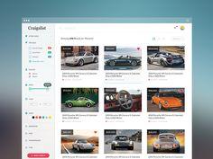 Craigslist Redesign designed by Tanveer Junayed. Connect with them on Dribbble; Web Dashboard, Ui Web, Dashboard Design, Gui Interface, User Interface Design, Flat Design Icons, Web Ui Design, Graphic Design, Website Design Inspiration