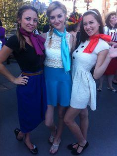 Disney Bound - Anna, Elsa and Olaf