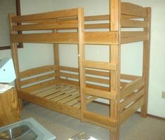 Bunk bed plans you can build for kids and adults. loft bed, Bunk bed plans that you can build for kids and adults. build beds easily from standard lumber with Custom Bunk Beds, Wood Bunk Beds, Bunk Beds With Stairs, Kids Bunk Beds, Loft Bed Plans, Desk Plans, Triple Bunk Beds, Diy Bett, Bunk Bed Designs