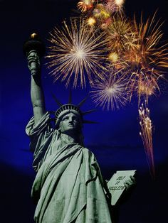 Fourth of July Statue of Liberty Fireworks