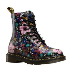 Buy the Dr Martens Wanderlust Pascal WL Womens Leather Floral Print Boots in Black Mallow Pink at Scorpio Shoes! Doc Martens Outfit, Doc Martens Boots, Dr Martens 1460, Doc Martens Stiefel, Red Doc Martens, Doc Martens Style, Doc Martens Floral, Dr Martens Store, Moda Hipster