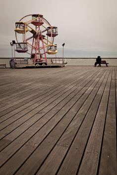 a lonely ferris wheel