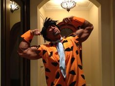 Dwayne Johnson - This is what my boyfriend will look like this year as Fred Flinstone for Halloween
