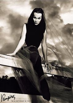 VAMPIRA the original one & only (Maila Nurmi) She dated James Dean & was the first late night horror movie hostess. Vampira starred in Plan 9 From Outer Space by cult director Ed Wood. (please follow minkshmink on pinterest)