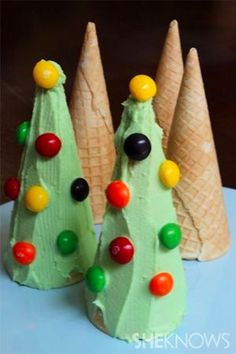 get the kids to decorate a cone for their own christmas tree