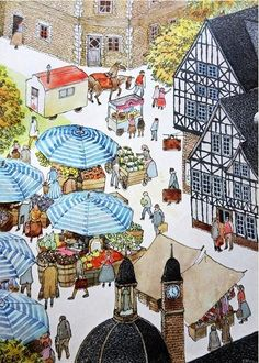 Reading Wordless Picture Books with your Children -- An All About Reading Series (Illustration from Anno's Journey)