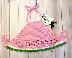 Excited to share this item from my shop: Watermelon toddler baby halter, crochet crop top, watermelon crop top, girls melon halter crop top Crochet Toddler, Crochet Baby Clothes, Newborn Crochet, Crochet For Kids, Crochet Halter Tops, Crochet Crop Top, Cute Crochet, Crochet Hats, Baby Dress Patterns