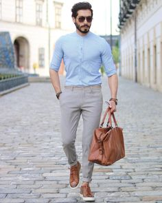 5 Best Shirt And Pant Combinations For Men - Mens Shirts Casual - Ideas of Mens Shirts Casual - 5 Best Shirt And Pant Combinations For Men Mens Fashion Blog, Mens Fashion Suits, Look Fashion, Fashion Clothes, Latest Fashion Trends For Men, Fashion Vest, Fashion Shirts, Cheap Fashion, Fashion 2018