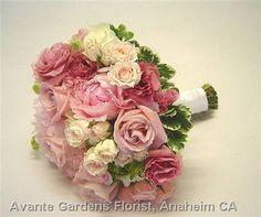 wedding bouquets peonies and hydrangeas | ... Design Gallery - Anaheim, CA : Pink Peony and Rose Wedding Bouquet
