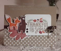 Stampin' & Scrappin' with Stasia   Stampin' Up! Holiday Mini 2015 Thankful Forest Friends