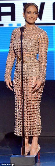Jennifer Lopez's back-up dancer's trousers split during AMAs performance | Daily Mail Online