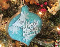 DIY Metal and Resin Christmas Ornament