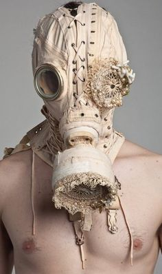 Gas mask made from an old corset...awesome!