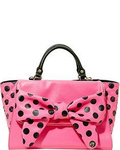 DOTS ENOUGH SATCHEL PINK accessories handbags day satchels