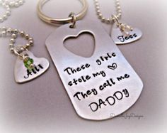 fathers dog tag with heart cut out - Google Search