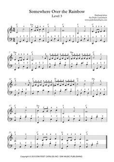 Somewhere Over The Rainbow By Cello Sheet Music, Trumpet Sheet Music, Reading Sheet Music, Easy Sheet Music, Solo Music, Easy Piano Sheet Music, Song Sheet, Violin Music, Piano Songs