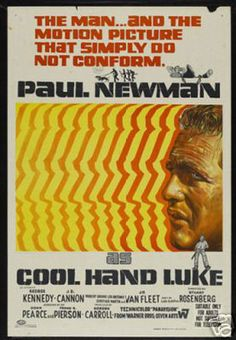 Cool Hand Luke Paul Newman Vintage Movie Poster