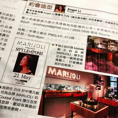 Re-cap of our first styling event collaboration with IPOSH image consultant; Angel Li on Jessica Fashion & Beauty magazine, May Issue, 2015 (P.94)  More events are coming! Drop us an email at info@marijoli.com to receive information about our upcoming events!