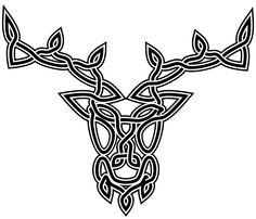 Celtic stag design...