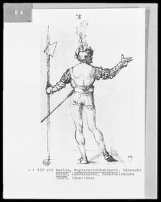 Durer A Landsknechte with Halberd