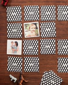 memory game with family photos.