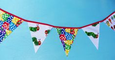 Very Hungry Caterpillar Banner Bunting for Party or Decor. $25.00, via Etsy.