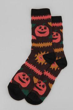 Jack-O'-Lantern Socks #urbanoutfitters #halloween #pumpkin
