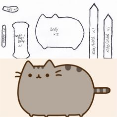 A number of felt Pusheen cat party surprise, cat felt baby . Sewing Toys, Sewing Crafts, Sewing Projects, Plushie Patterns, Felt Patterns, Cat Crafts, Crafts For Kids, Pusheen Coloring Pages, Pusheen Birthday