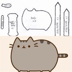 Pusheen cat template