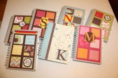Kid-isms Journal. Use composition books, craft paper, embellishments, pic of kid. One for each child