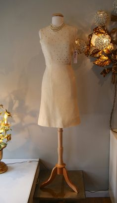 1960's Dress // Vintage 60s Mad Men Rhinestone by xtabayvintage, $198.00