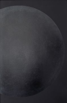 Moon serie - Black moon  Lacquer with wax finish - 90x60 cm
