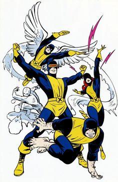 astonishingx:  Original X-Men by John Romita Sr.