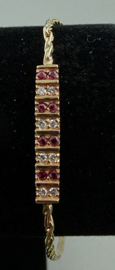 Gorgeous 14k Yellow Gold Ruby and Diamond by rubylanejewelers, $820.00