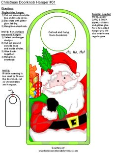Office Christmas Party, Christmas Door, Christmas Holidays, Christmas Crafts, Christmas Ornaments, Christmas Ideas, Doorknob Hangers, Door Knobs, Friendly Letter