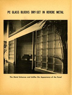 Pittsburgh Corning Glass Block catalog, 1930s. Drawings + Documents Archive, Ball State University.