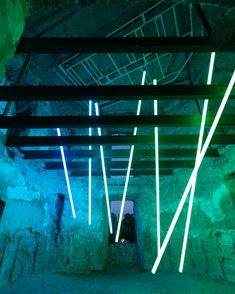 Olivier Ratsi - Polycarbonate Tubing, Metal, Cables, Wood, Custom Made and Led Fixture New Media, Installation Art, Romania, Castle, Technology, Led, Metal, Tech, Castles