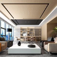 💪Creative craft decors for office walls? home office livin., design corporate ceo 💪Creative craft decors for office walls? home office livin. Corporate Office Design, Modern Office Design, Contemporary Office, Office Interior Design, Office Interiors, Office Designs, Office Ceiling Design, Office Paint Colors, Luxury Office