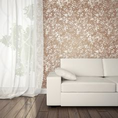 Forest Self Adhesive Wallpaper in Copper design by Tempaper