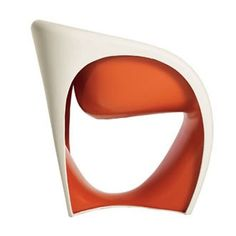 Rocking armchair in rotational moulding polyethylene