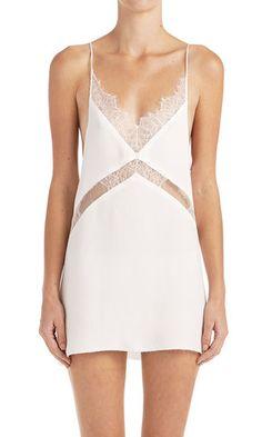 Anabela Lace Front Dress - White
