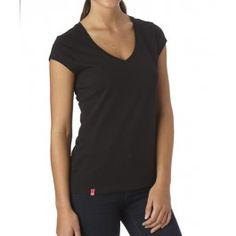 PACT : Black Everyday V-Neck Tee