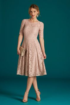 Lace Fit and Flare Dress Ivory  Product Details    This dress comes in a beautiful and flattering stretch lace fabric. Designed to flatter all shapes. This dress is perfect for all your occasions this season. Perfect for a festive christmas party occasionwear