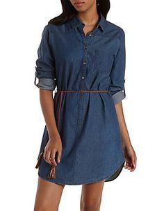 Denim Dresses: Charlotte Russe $35