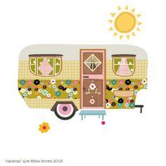 So sweet this vintage caravan by bee brown's design hive