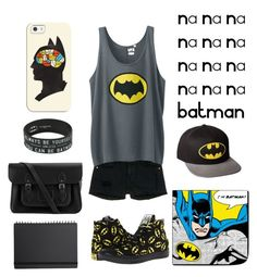 """""""Batman Outfit"""" by mondsterker on Polyvore featuring Frame Denim, Uniqlo, Muji, The Cambridge Satchel Company, Converse and Casetify"""