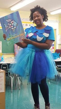 Rainbow Fish costume for book character day - how fun!