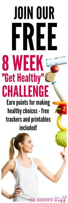 Join the FREE 8 Week Get Healthy Challenge - everything that you need to put together your own challenge with family and friends!
