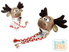 Handmade Crochet Moose Animal Hat For All Ages